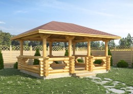 Купить деревянную беседку Минск