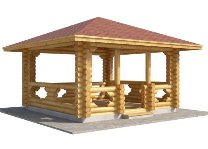 Заказать деревянную беседку 4 х 4