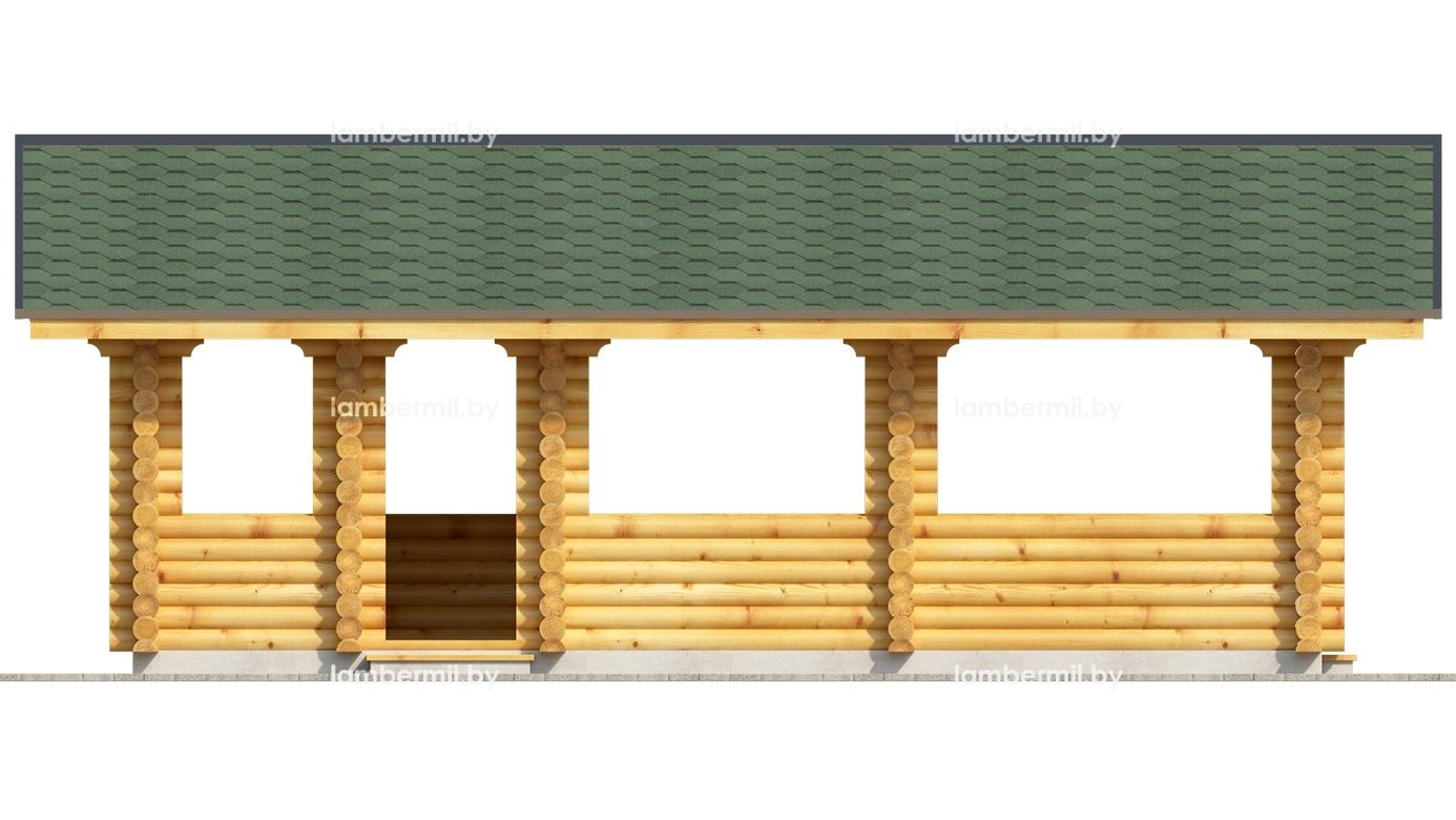 Купить деревянную беседку 8 х 4 Барановичи