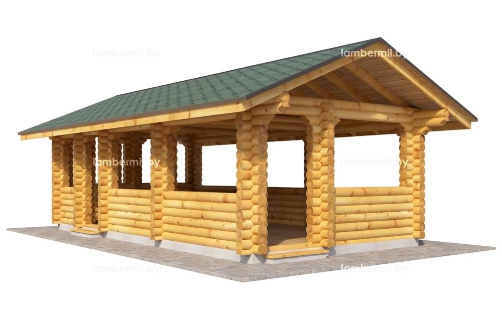 Заказать деревянную беседку 8х4