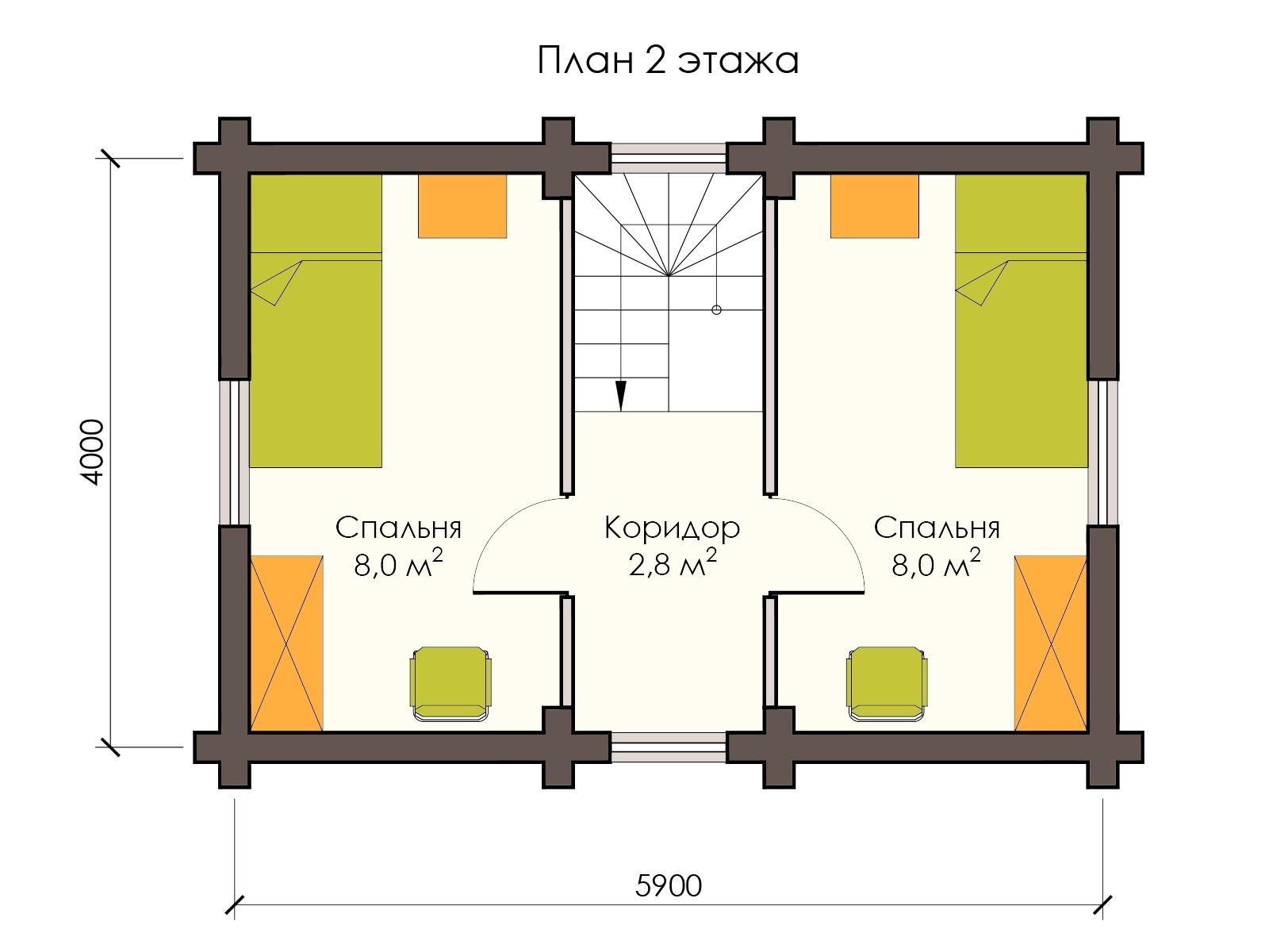Проект деревянного дома 40 м