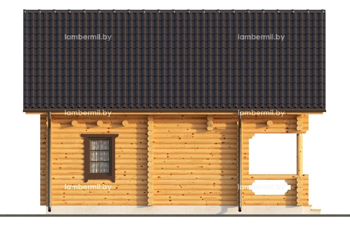 Проект дома из оцилиндрованого бревна 80 м