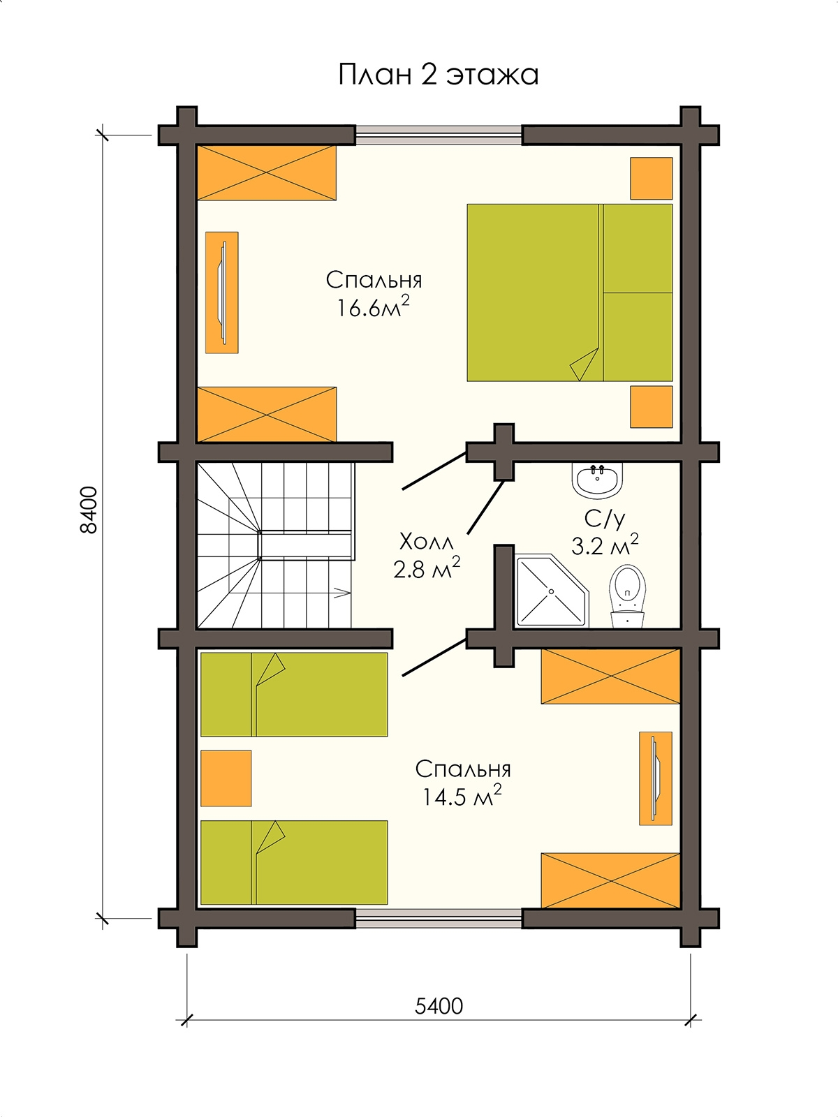 Деревянный дом 5 х 8