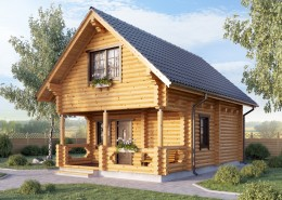 Проект деревянного дома 5 х 8
