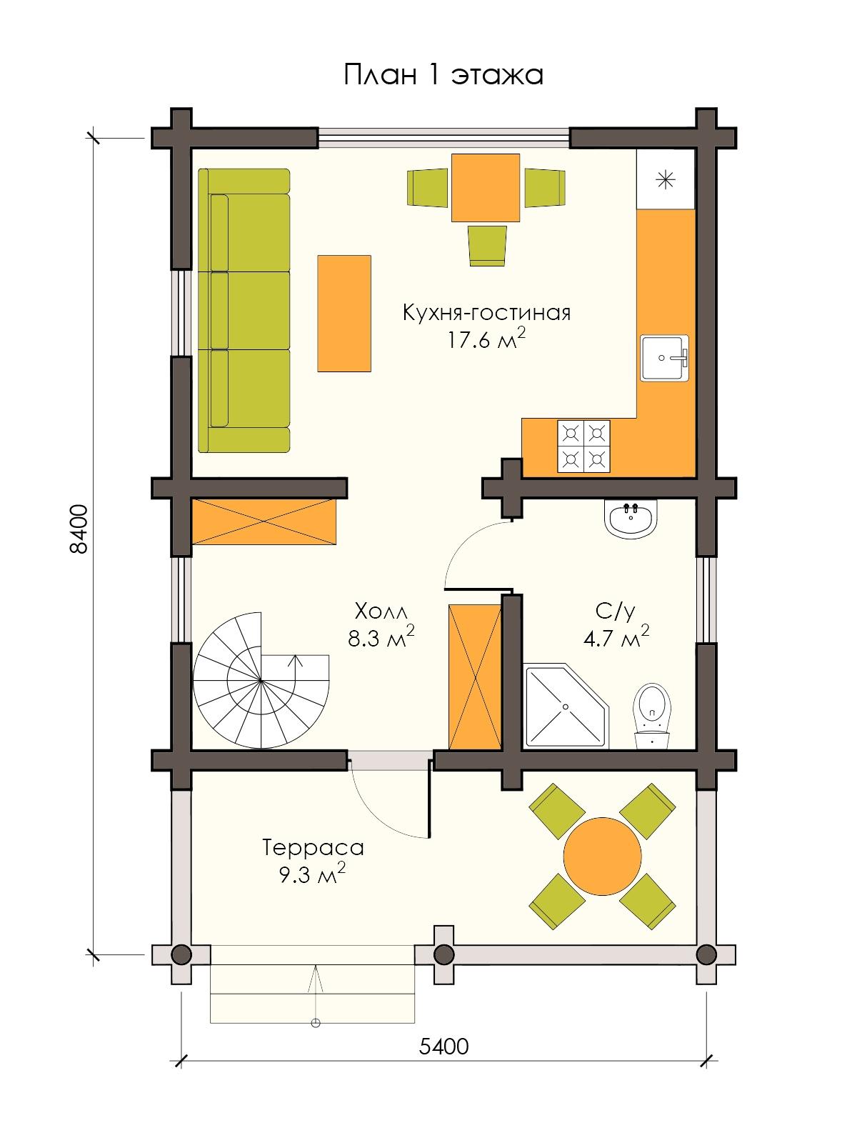 Проект деревянного дома 80 м