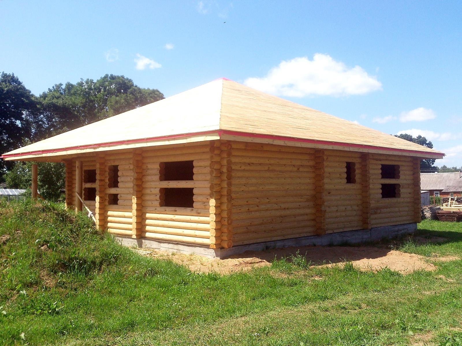 Дом из оцилиндрованного бревна 120