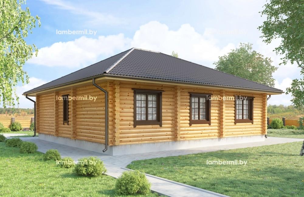 Купить одноэтажный деревянный дом