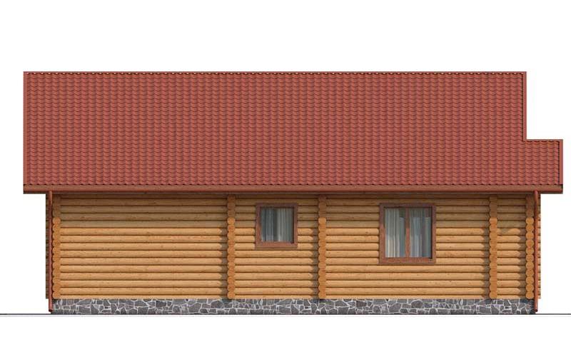 Проект одноэтажного деревянного дома