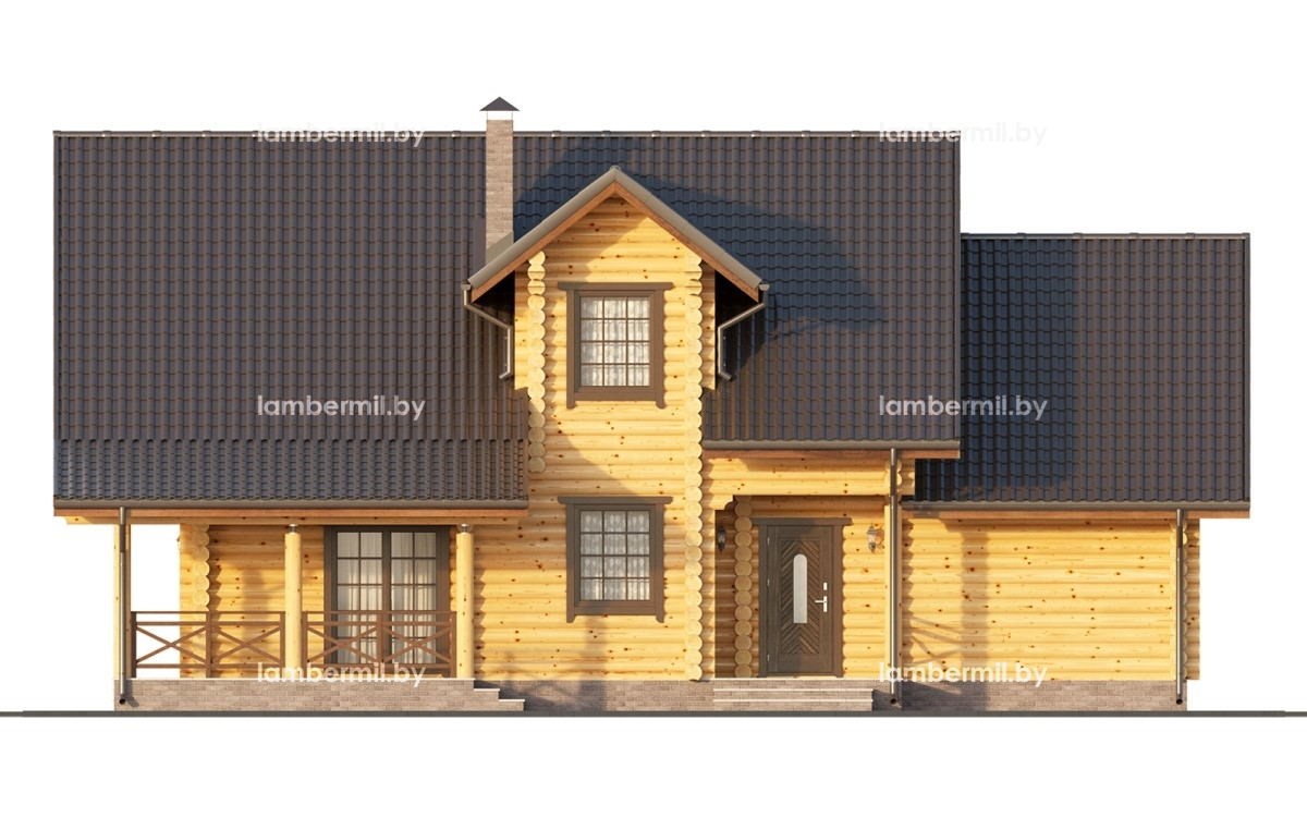 Купить дом из оцилиндрованного бревна 200 м