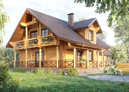 Проект деревянного дома 225