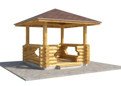 Купить деревянную беседку