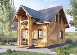 Деревянный гостевой дом