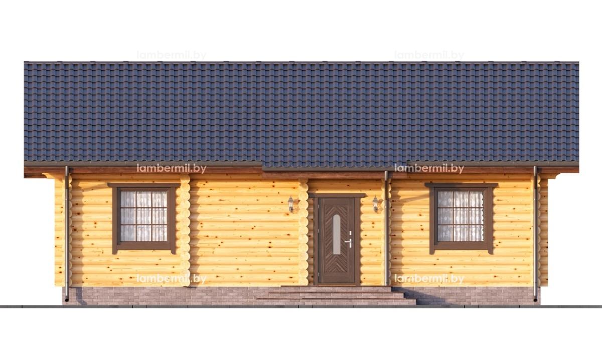 Одноэтажный дом из оцилиндрованного бревна купить