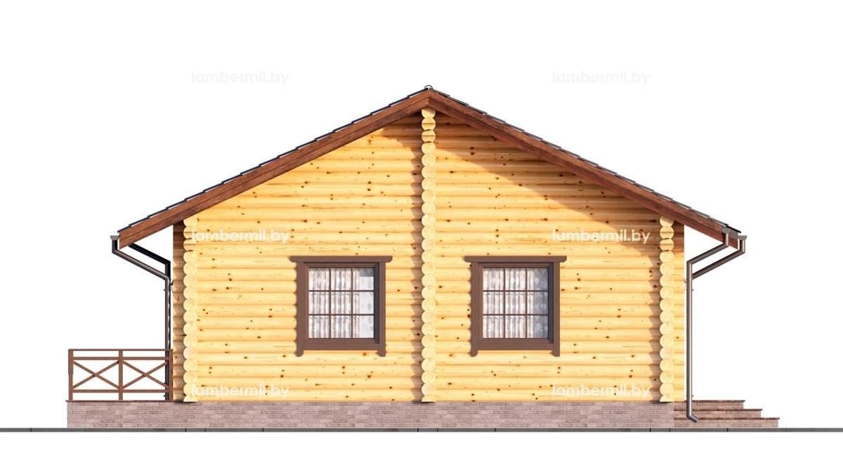 Дом из бревна 80 м