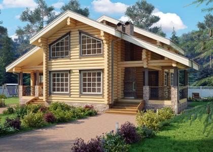 Проект деревянного дома 150