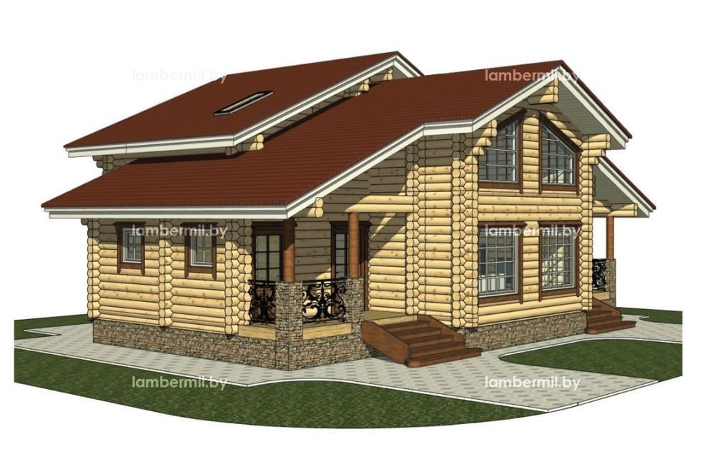 Проект деревянного дома 150 м
