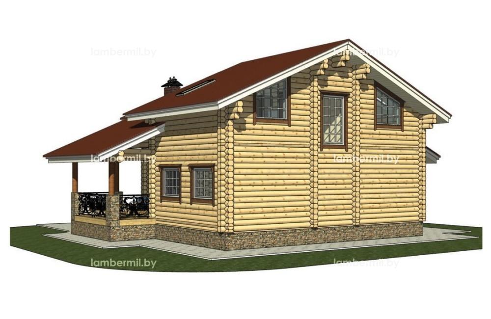 Проект дома из бревна 150