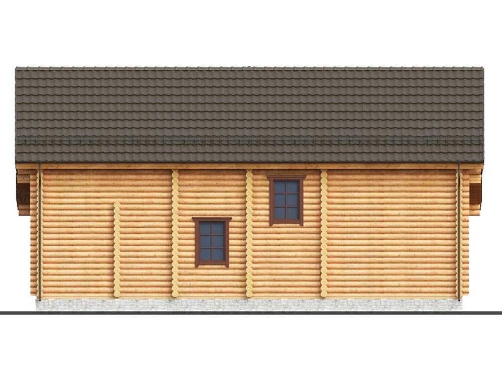 Проект двухэтажного дома из оцилиндровки