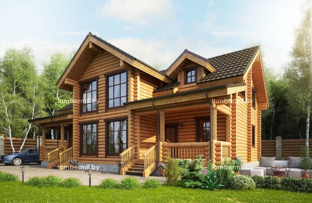 Проект деревянного дома 231
