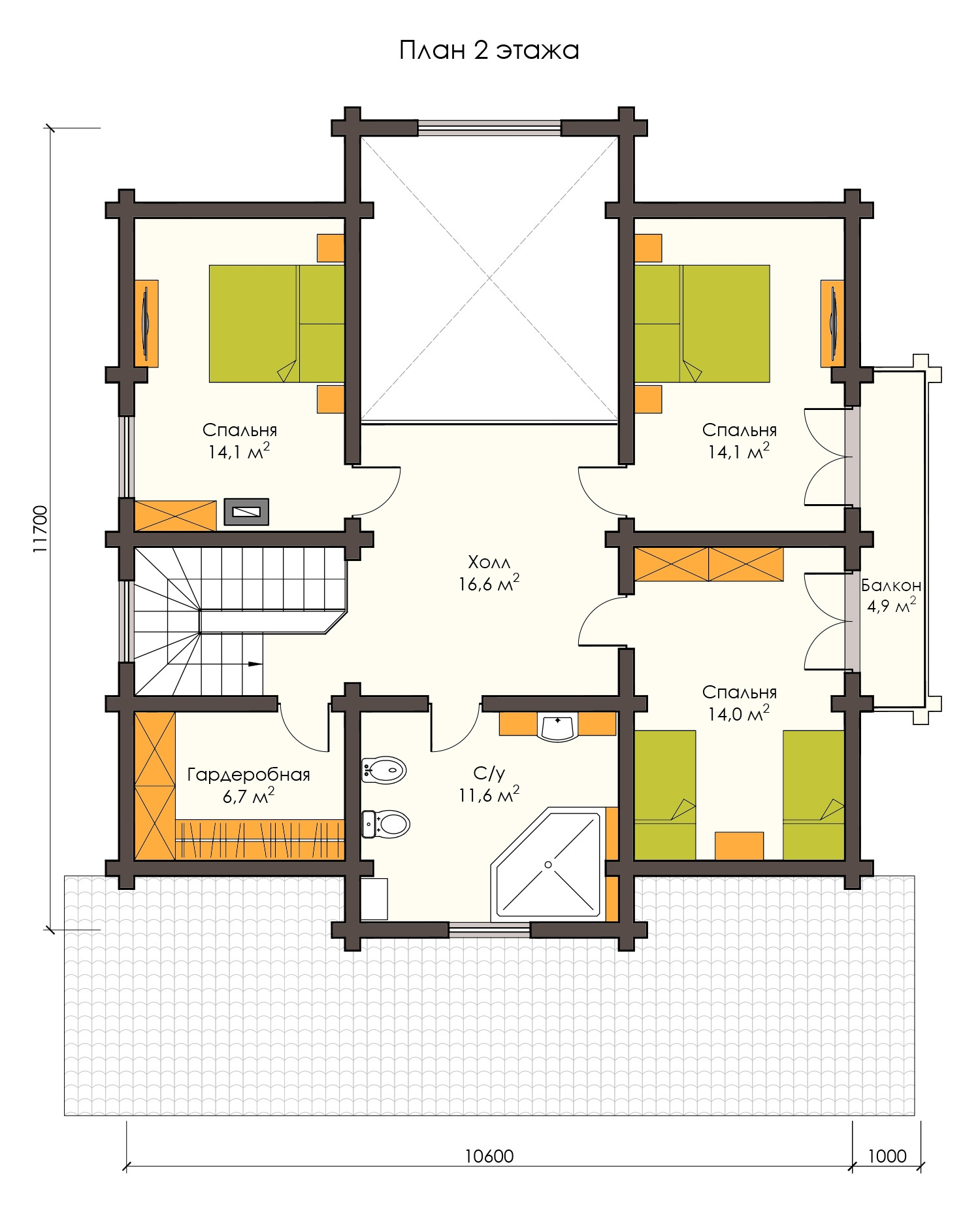 Проект деревянного дома 200 м