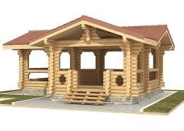 Купить большую деревянную беседку