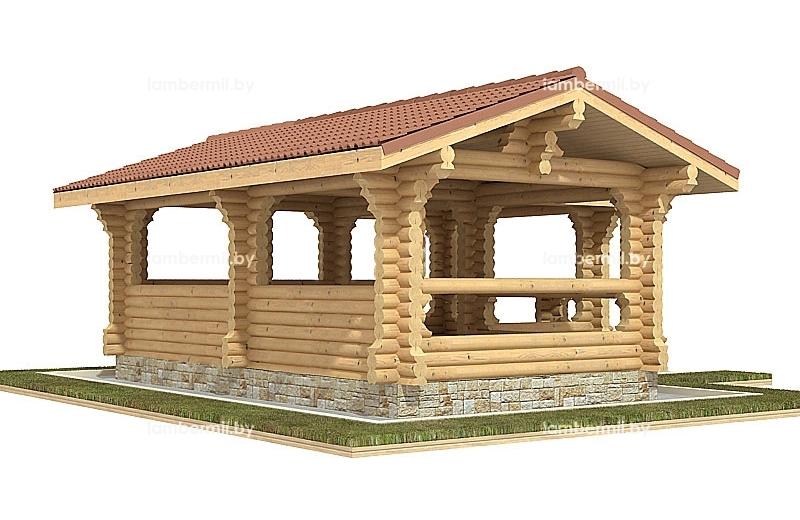 Купить большую деревянную беседку Минск
