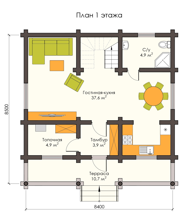 Проект деревянного дома 120 м