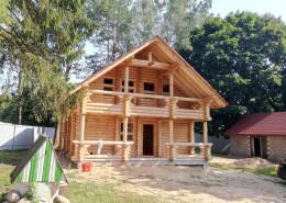 Дом из оцилиндрованного бревна в Ёлово - 4