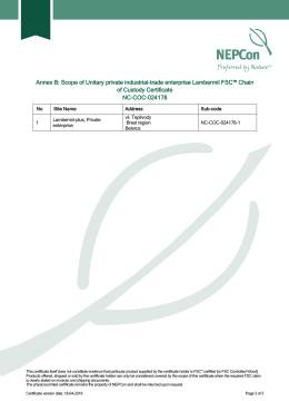 Сертификат FSC-3