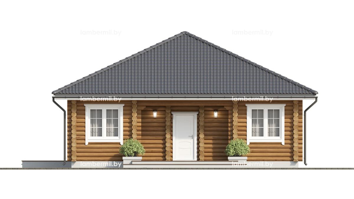 Проект деревянного дома 10х10