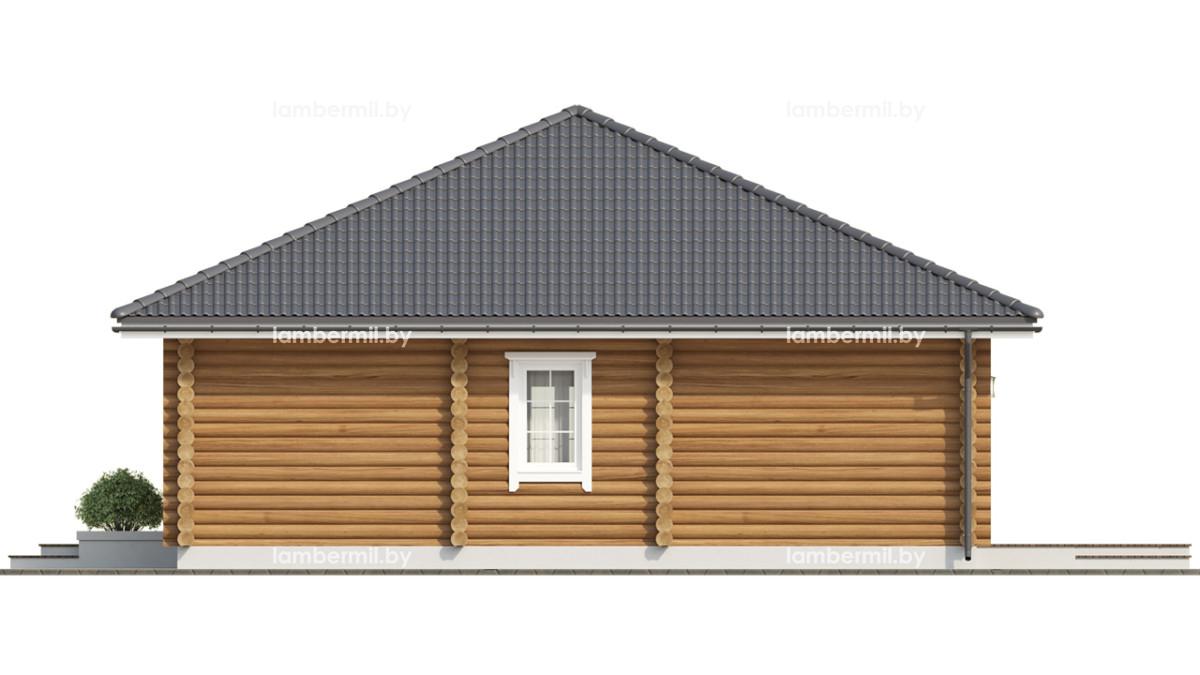 Дом из оцилиндрованного бревна 100 метров